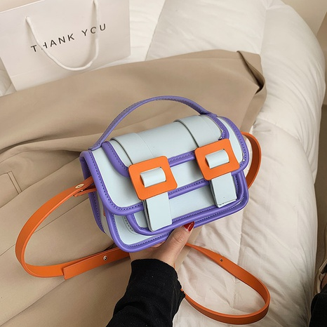 Candy Color Contrast New Fashion Stitching quadratische Tasche NHTG316220's discount tags