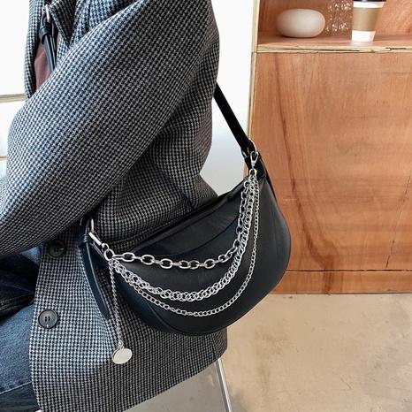 neue einfache halbmondförmige halbkreisförmige Kettentasche NHTG316223's discount tags