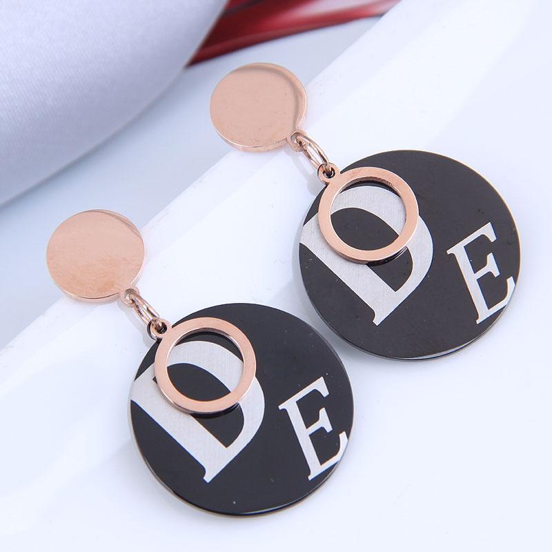 Korean fashion OL titanium steel wild simple earrings NHSC316252