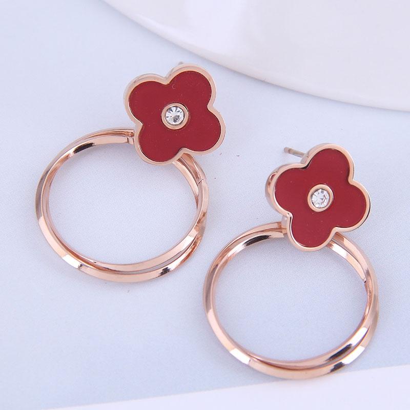 fashion OL titanium steel simple circle earrings NHSC316246
