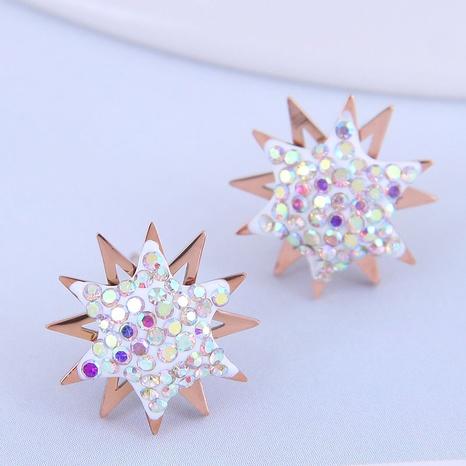 Korean fashion sunflower earrings NHSC316243's discount tags