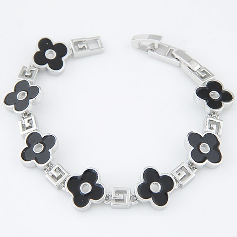 fashion sweet simple clover bracelet NHSC316237