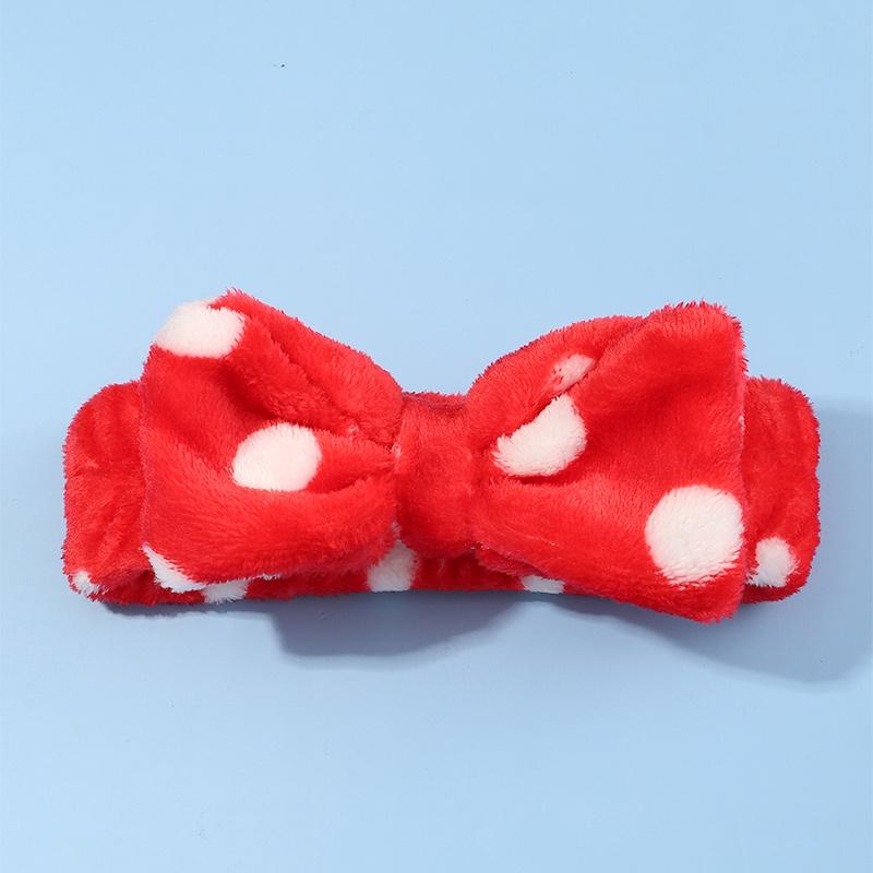 Fashion Polka Dot Face Wash Hairband NHNU316236