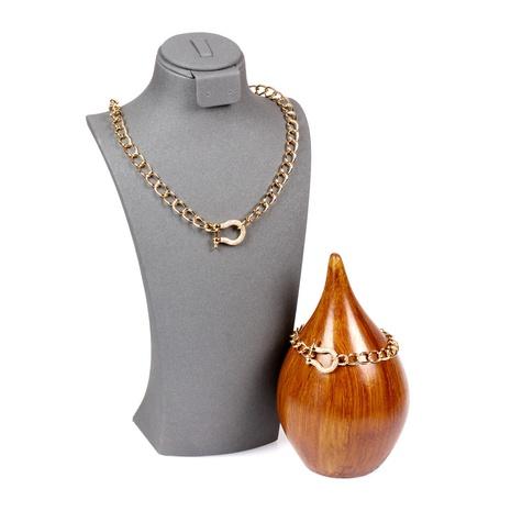 Mode Diamant Schlüsselbein Kette U-förmige Halskette Armband gesetzt NHPY316228's discount tags