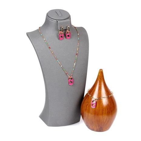 neues tropfendes Öl Liebe Schwein Nase Armband Halskette Set NHPY316231's discount tags