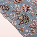 Floral vneck laceup chiffon dress NHUO316253
