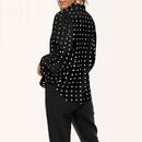 spring new fashion loose lantern sleeve chiffon shirt NHKO316263