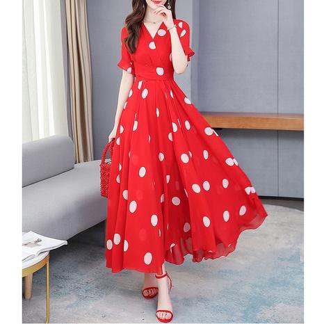 Summer new style polka dot chiffon dress NHJG316274's discount tags