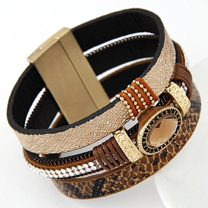 fashion gemstone magnet bracelet NHSC316605