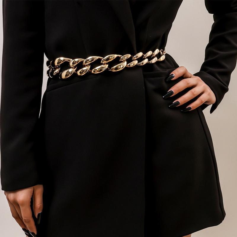 punk thick waist chain NHXR316282