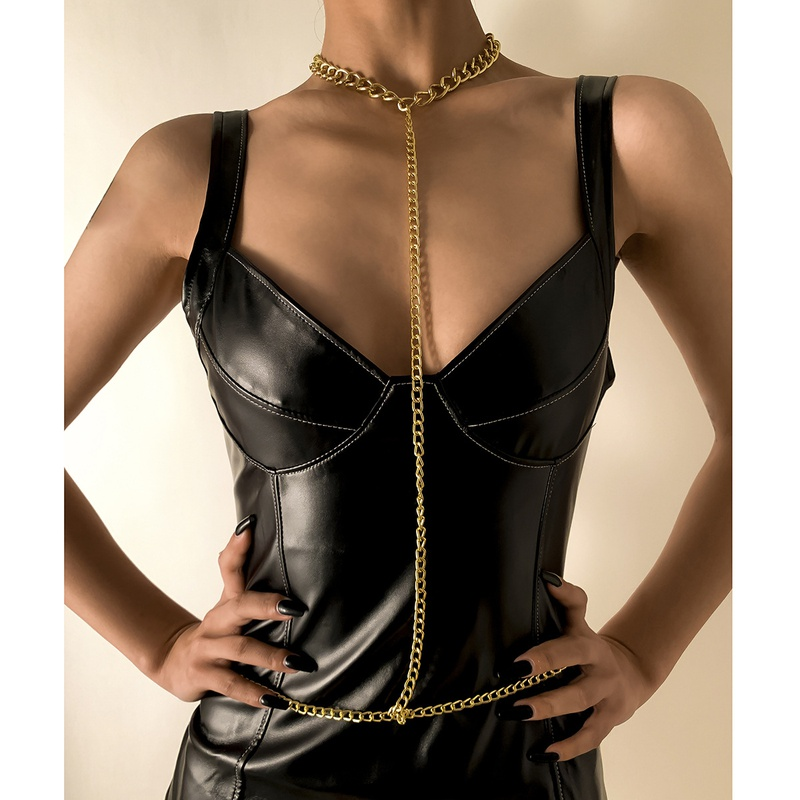 simple sexy long body chain NHXR316293