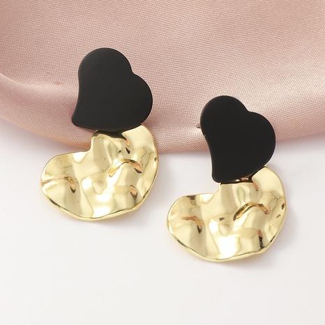 fashion retro irregular metal heart earrings NHNZ316296's discount tags