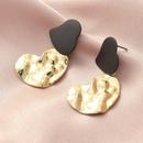 fashion retro irregular metal heart earrings NHNZ316296