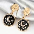 fashion retro coin star moon earrings NHNZ316294