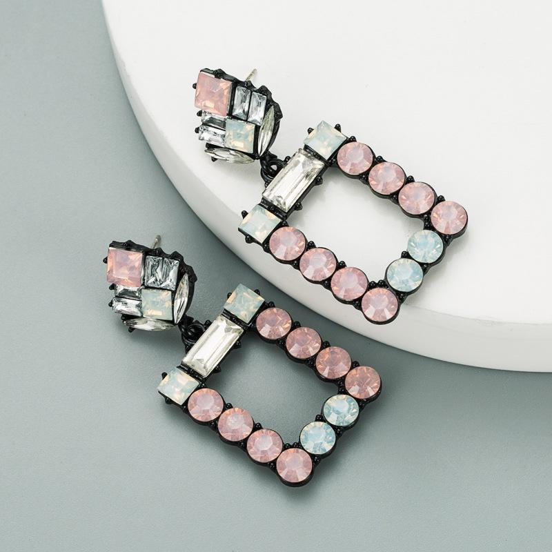fashion square acrylic geometric earrings  NHLN316307