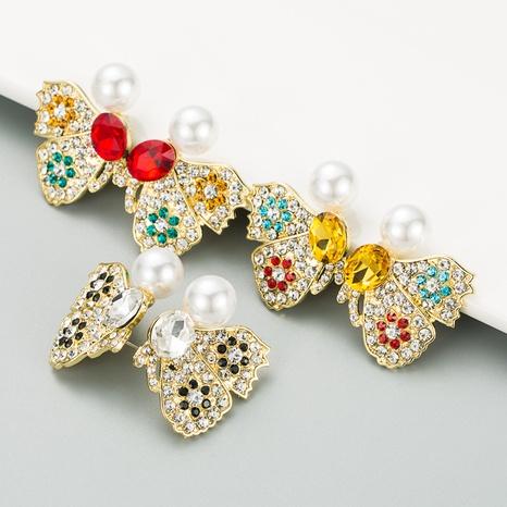 butterfly wings full diamond earrings NHLN316311's discount tags