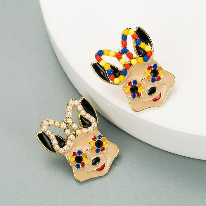 creative cute animalshaped alloy earrings NHLN316315