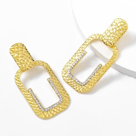 Diamantohrringe aus rechteckiger Legierung NHJE316319's discount tags