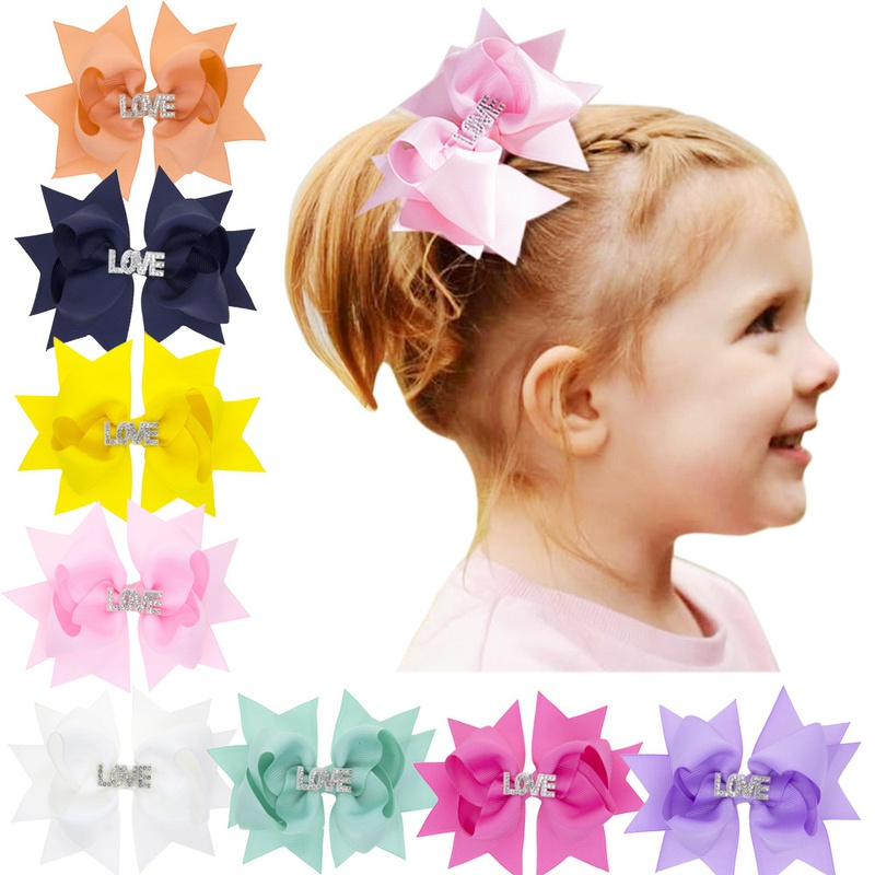 children's solid color bow hairpin  NHWO316329