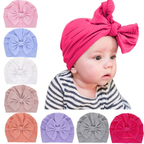 children's simple cotton bowknot hat NHWO316331's discount tags