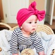 childrens simple cotton bowknot hat NHWO316331