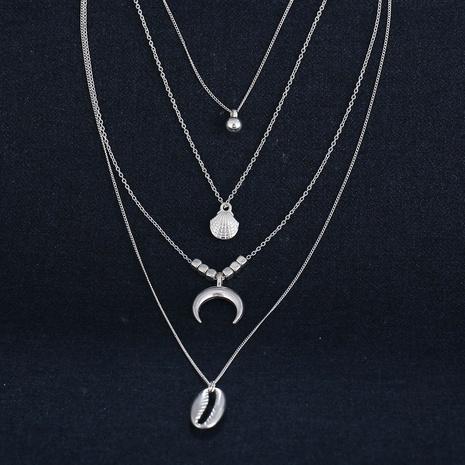 collar colgante de concha de luna de múltiples capas de moda NHYI316336's discount tags