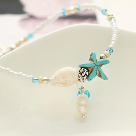 Mode Seestern Anhänger Reis Perlen Fußkettchen NHYI316355's discount tags