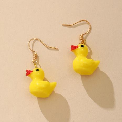 kleine gelbe Ente süße Cartoon Ohrringe NHYI316363's discount tags