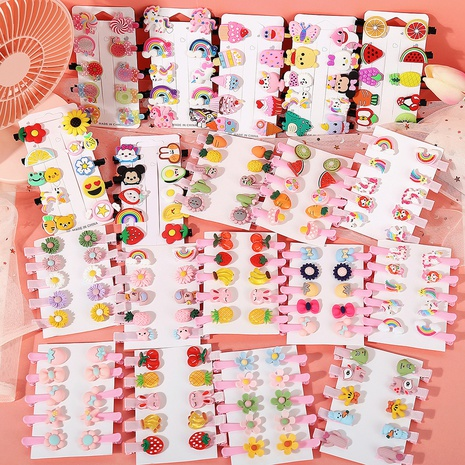 Children's cute korean hair clips set  NHYI316365's discount tags