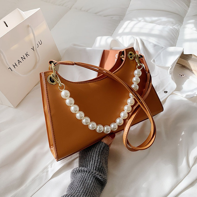 Fashion Simple Pearl Shoulder Bag  NHLH316378