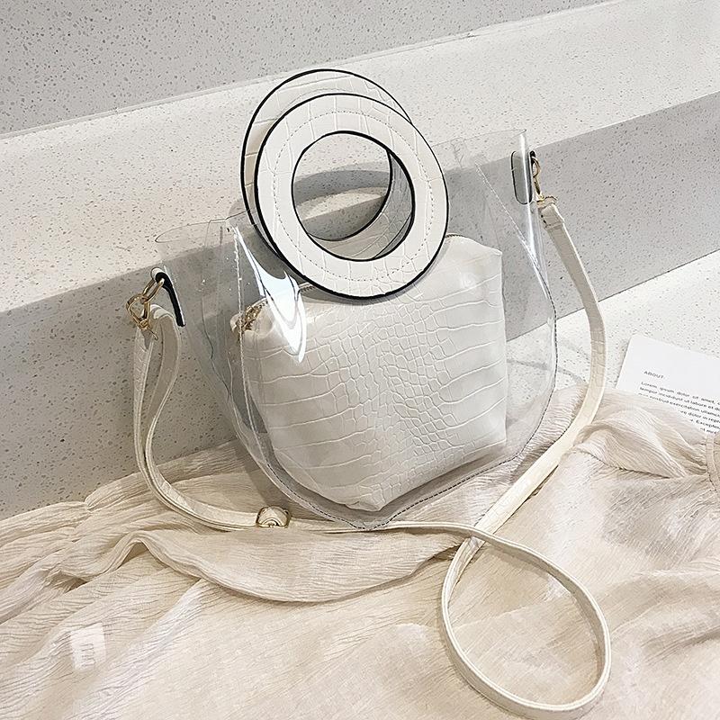Transparent fashion tote bag NHJZ316391