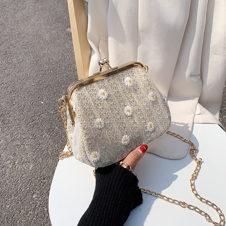 woven small daisy straw bag  NHJZ316400's discount tags