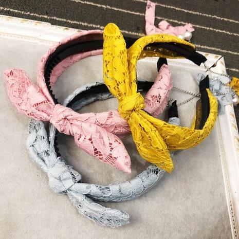 Mode Spitzen Mesh Kaninchen Schleife Stirnband NHFS316407's discount tags