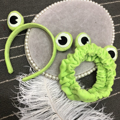 süßes Mode grünes kleines Frosch Stirnband NHFS316416's discount tags