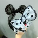 Korea simple Dot Lace Mesh Bowknot Headband NHFS316420