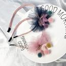 cute sequin crown colorful ball net yarn childrens headband  NHFS316424