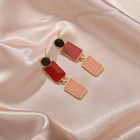 retro oil painting geometric earrings NHBQ316439's discount tags