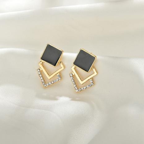 Boucles d'oreilles en diamant rétro multicouches coréennes NHBQ316454's discount tags