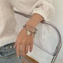 titanium steel cute bear doublelayer bracelet  NHNJ316482