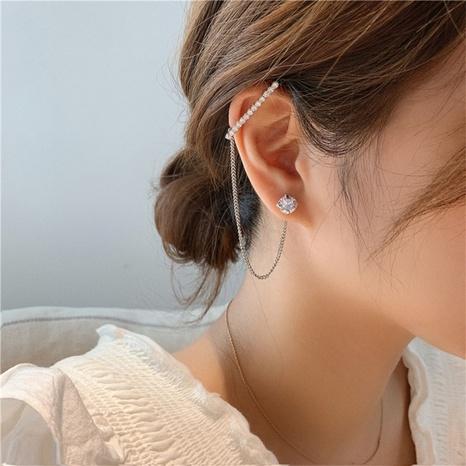 einfache Diamanten Mode Ohrringe NHNJ316494's discount tags