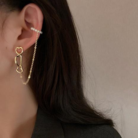 fashion pearl heart ear bone clip  NHNJ316501's discount tags