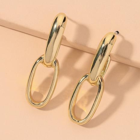 golden retro fashion metallic earrings NHNJ316506's discount tags