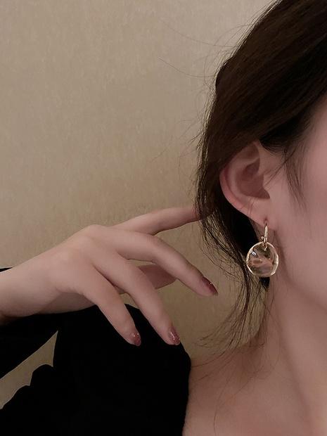 einfache asymmetrische Scheiben-Retro-Ohrringe NHNJ316513's discount tags