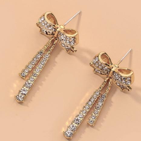 full diamond bow earrings  NHNJ316514's discount tags