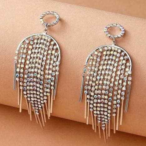full diamond tassel earrings  NHNJ316516's discount tags