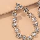 Diamond Hollow Water Drop Earrings NHNJ316518