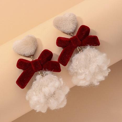 Cute Plush Bow Earrings  NHNJ316526's discount tags