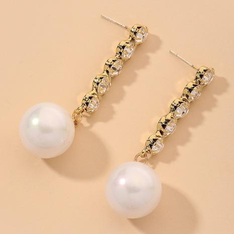 Retro Diamant Perle lange Ohrringe NHNJ316529's discount tags