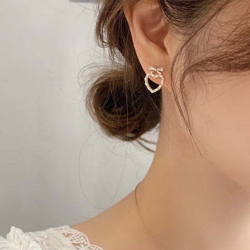 diamond-studded pearl retro fashion earrings NHNJ316534