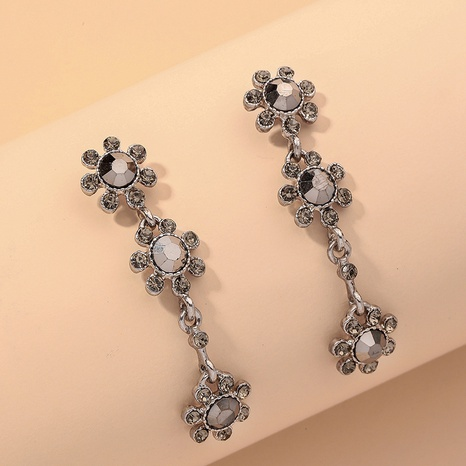 simple diamond flower earrings NHNJ316545's discount tags